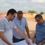 Presidente Dutra: Prefeito Juran Carvalho e Ciro Neto, visitam inicio das obras do novo Centro de Abastecimento.