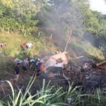 Carreta tomba e pega fogo em Estreito MA