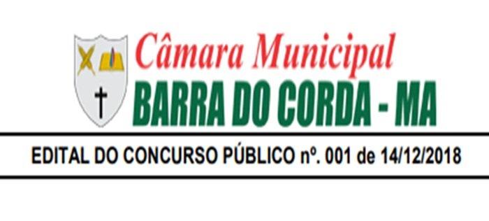 Edital do Concurso da Câmara de Barra do Corda com 14 vagas