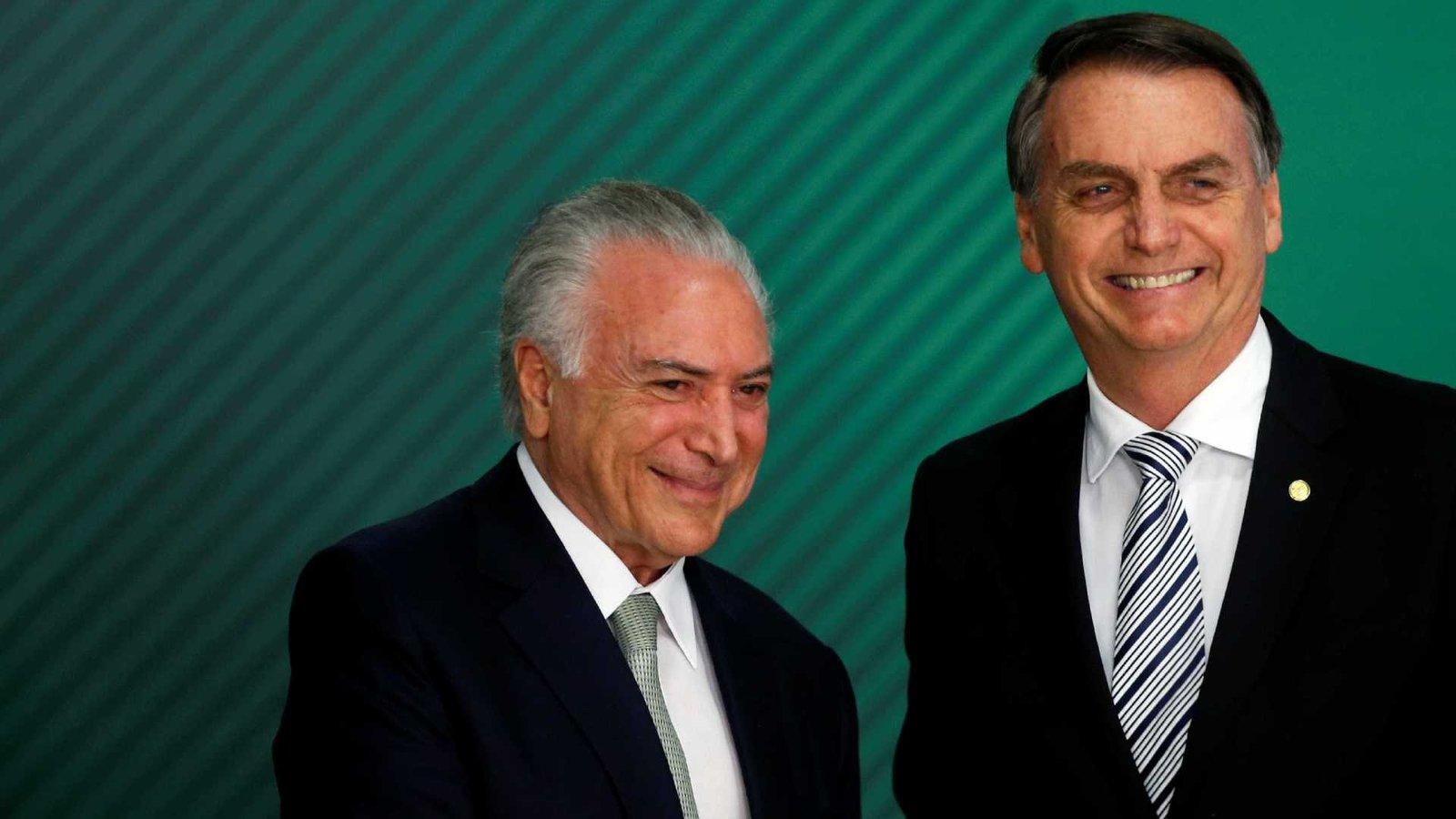 Temer deixa para Bolsonaro R$ 336 bilhões em investimentos já engatilhados