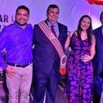 Prefeito Toinho Patioba e a Primeira dama doutora Gisele Sena participam da solenidade de posse do Governador reeleito Flávio Dino