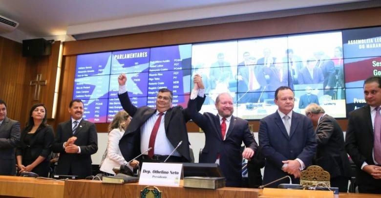 Flávio Dino toma posse na Assembleia Legislativa