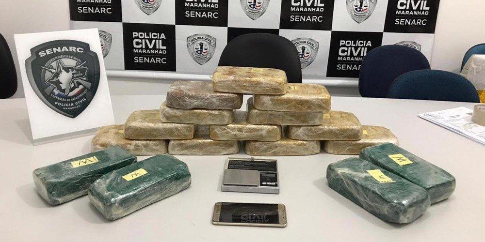 Presidente Dutra, apreende 18 kg de droga