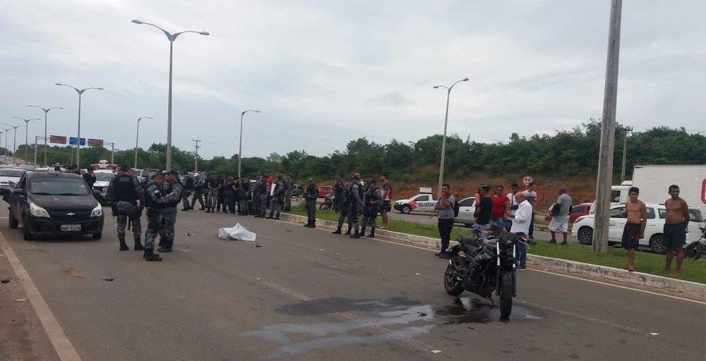 Policial militar morre em acidente com moto na Via Expressa, em São Luís