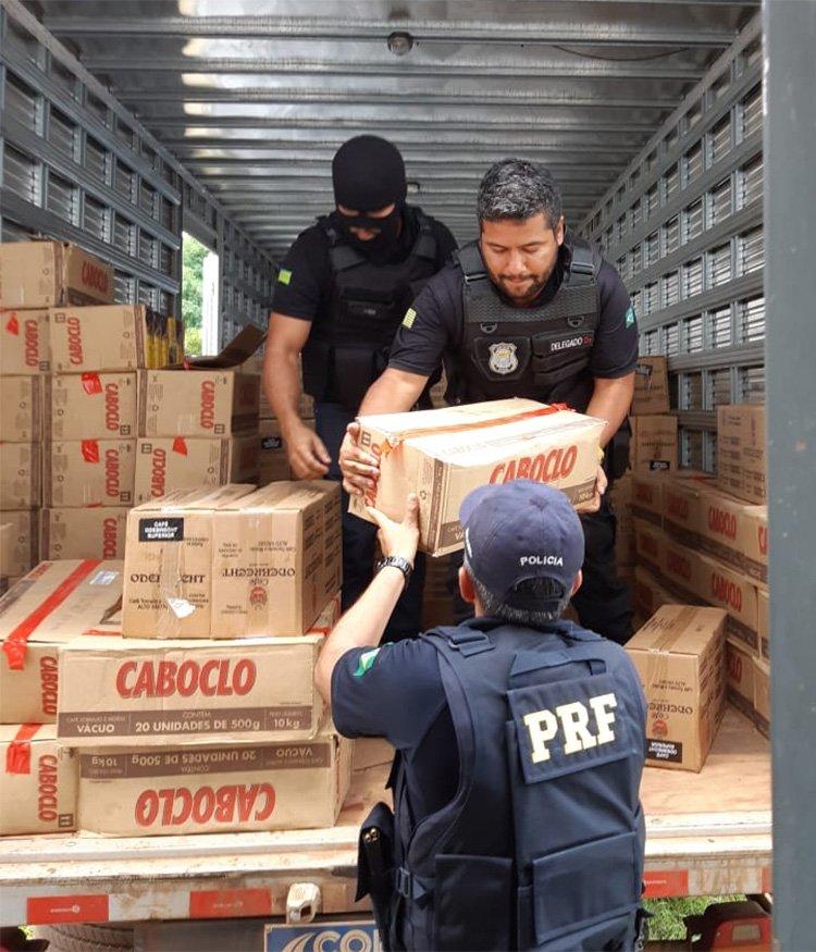 Operação do Greco e PRF apreende carga roubada avaliada em R$ 1 milhão