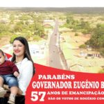 Rogério Conal homenageia Governador Eugênio Barros pelos 57 anos de emancipação
