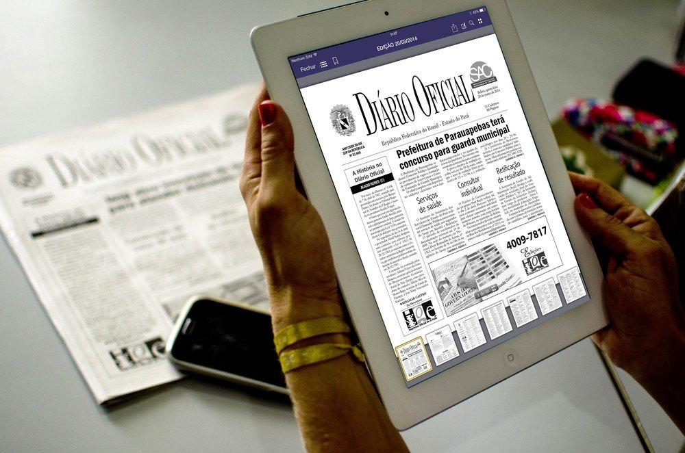 Diário Oficial do Estado encerra versão impressa e passa a ser acessado apenas pela internet