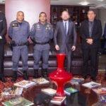 Presidente Othelino Neto discute segurança pública com o Comando da Polícia Militar do Maranhão