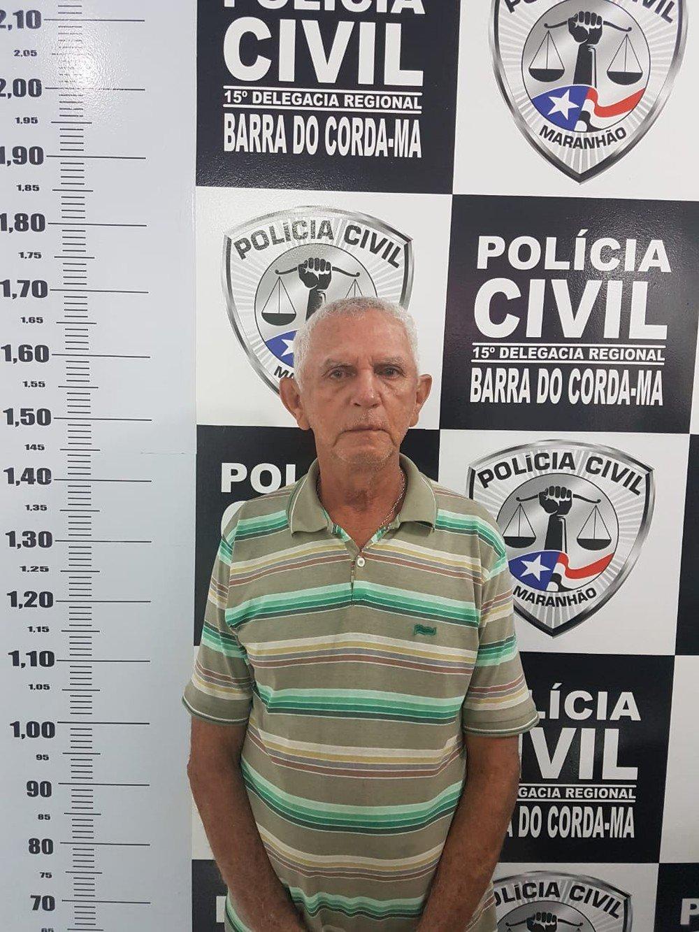 Idoso de  65 anos, foi preso acusado de estuprar uma menina de 14 anos  em Barra do Corda.