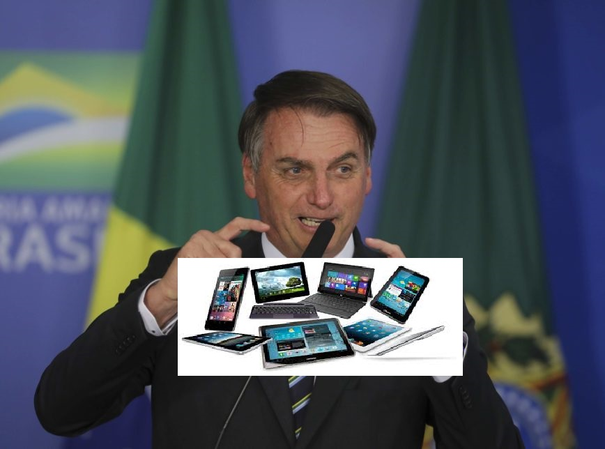 Bolsonaro estuda reduzir imposto de celulares e computadores