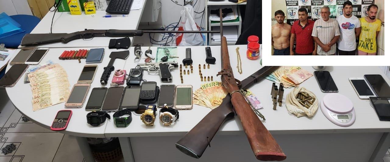 Em Dom Pedro, 10 prisões por  tráfico de drogas e posse ilegal de armas