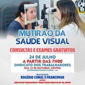 """Governador Eugênio Barros """"Ação Solidária"""" mutirão da visão"""
