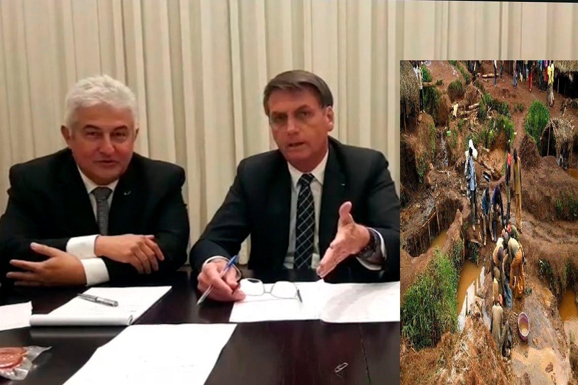 Bolsonaro diz que ministério prepara projeto para legalizar garimpos