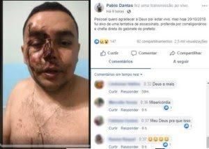 Vereador de oposição leva uma surra e acusa prefeito, em Tavares - Paraíba