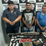 A POLÍCIA CIVIL PRENDE TRÊS SUSPEITOS POR PARTICIPAREM DE ASSALTOS ÀS AGÊNCIAS BANCÁRIAS EM DE TUTÓIA