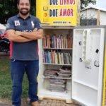 """""""Felipe  Gonçalves"""" o idealizador da geladeiroteca em Gonçalves Dias"""