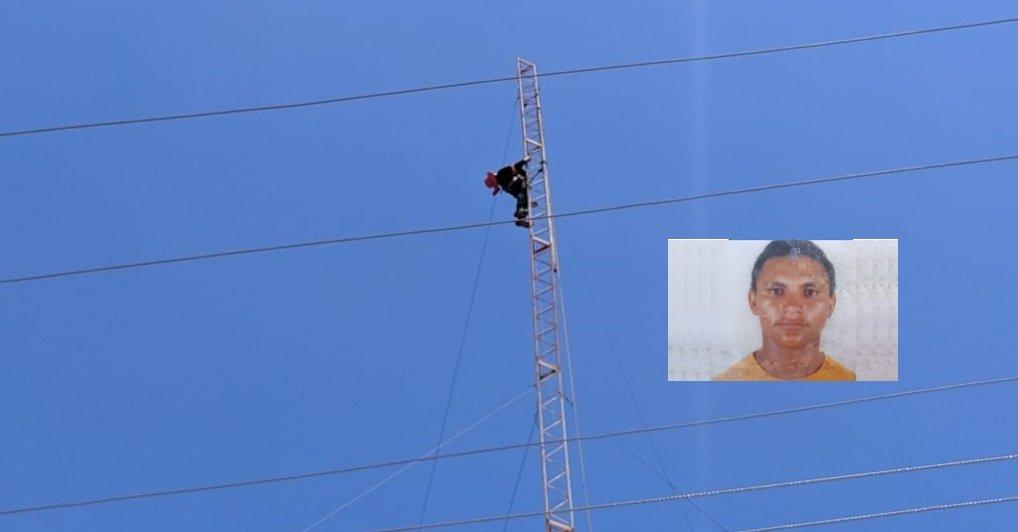 Homem morre eletrocutado em torre de internet em Floriano - Piauí