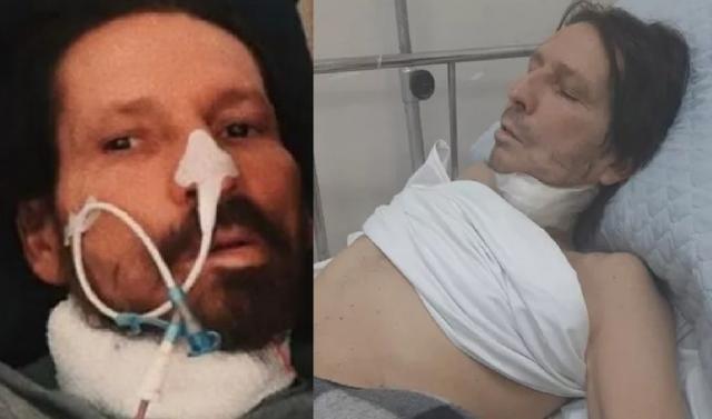 O ex-locutor de rodeio  Asa Branca,   gritando de dor,  é amarrado e esposa denuncia: 'Enfermeiros estão batendo nele'