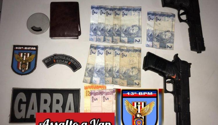 POLÍCIA MILITAR DETÉM DOIS SUSPEITOS DE ROUBO A VAN NA ESTRADA DE RIBAMAR