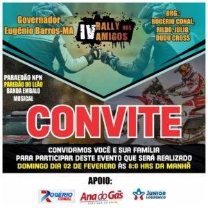 IV RALLY DOS AMIGOS DOMINGO DIA 02 FEVEREIRO 2020