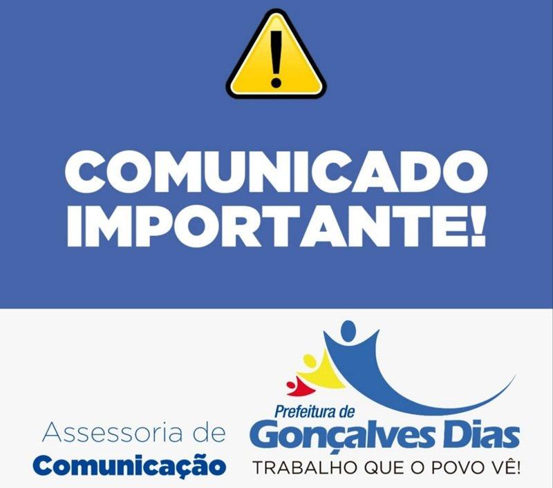 Luto Oficial e Ponto Facultativo no município de Gonçalves Dias.