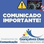 Comunicado da prefeitura municipal de Gonçalves Dias