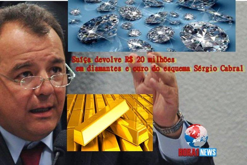 Suíça devolve R$ 20 milhões em diamantes e ouro do esquema Sérgio Cabral