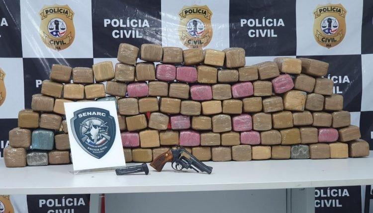 Polícia Civíl prende traficante conduzindo 100 quilos de maconha em Santa Luzia do Tide