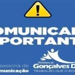 SECRETARIA MUNICIPAL DE ADMINISTRAÇÃO DE GONÇALVES DIAS - MA, AVISO