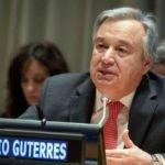 O secretário-geral da Organização das Nações Unidas (ONU), António Guterres, disse que a pandemia de covid-19 é o maior desafio que o mundo enfrenta desde a Segunda Guerra Mundial