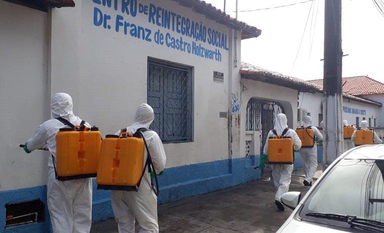 IMPERATRIZ - Exército higieniza unidades prisionais a pedido do MPMA