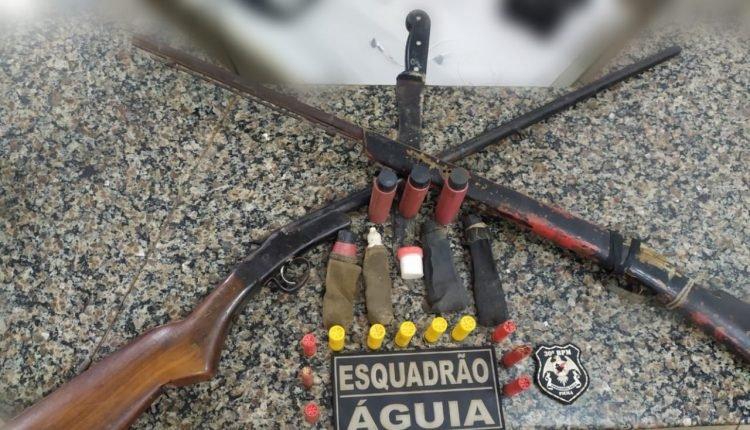 PMMA APREENDE DUAS ARMAS DE FOGO EM BURITICUPU – MA