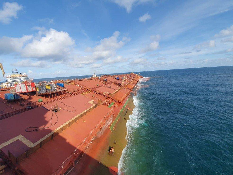 Marinha informa que navio Stellar Banner vai ser afunda navio Stellar Bannerdo na costa do Maranhão