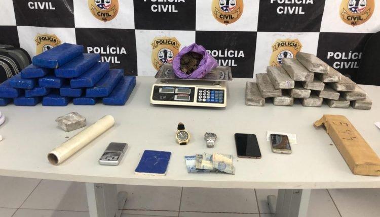 POLÍCIA CIVIL REALIZA APREENSÃO DE 35KG DE MACONHA EM  SÃO LUIS