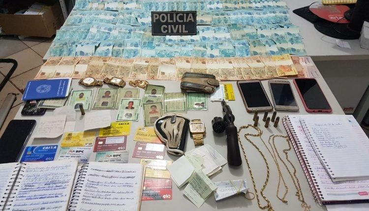 CRIME DE AGIOTAGEM: POLÍCIA CIVIL PRENDE PAI E FILHO NA CIDADE DE MIRANDA DO NORTE