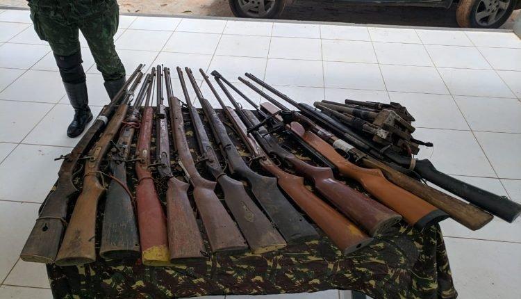 BATALHÃO MILITAR AMBIENTAL APREENDE ARMAS DE FOGO EM TERRAS INDÍGENAS