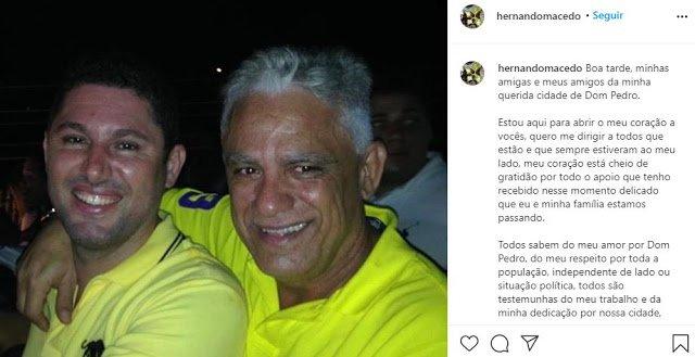 Ex-prefeito Hernando Macedo desiste de concorrer à prefeitura de Dom Pedro – Maranhão