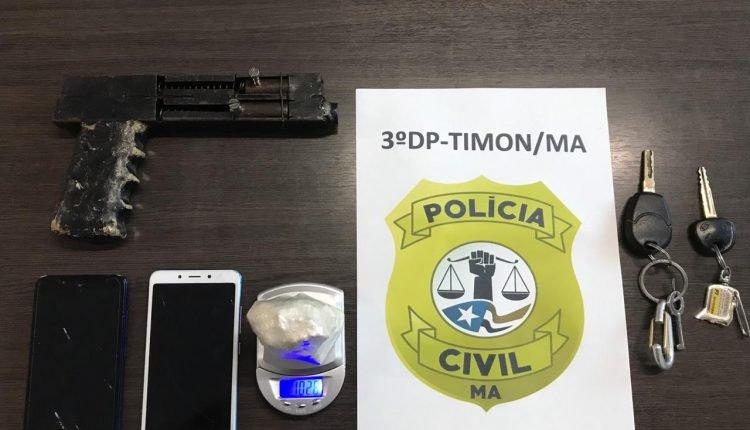 POLÍCIA CIVIL CUMPRE MANDADOS DE BUSCA E PRENDE DOIS INDIVÍDUOS POR TRÁFICO DE DROGAS E POSSE ILEGAL DE ARMA EM TIMON