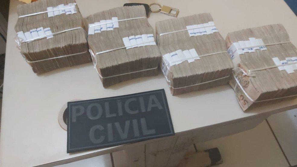 Filho de Candidato a prefeito de São Domingos do Azeitão  é preso com 200 mil