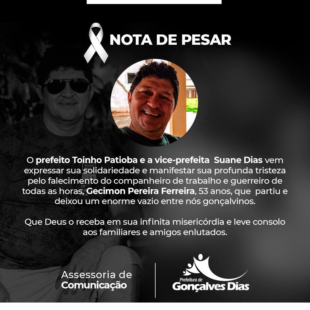 Prefeitura municipal  de Gonçalves Dias, Ponto facultativo e luto  oficial no município