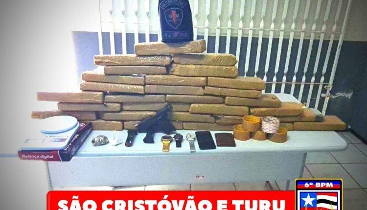 POLICIAIS MILITARES APREENDEM GRANDE QUANTIDADE DE DROGAS EM SÃO LUIS