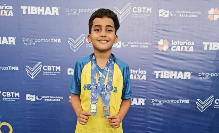Garoto  tuntuense de apenas nove anos é Campeão Brasileiro de Tênis de Mesa