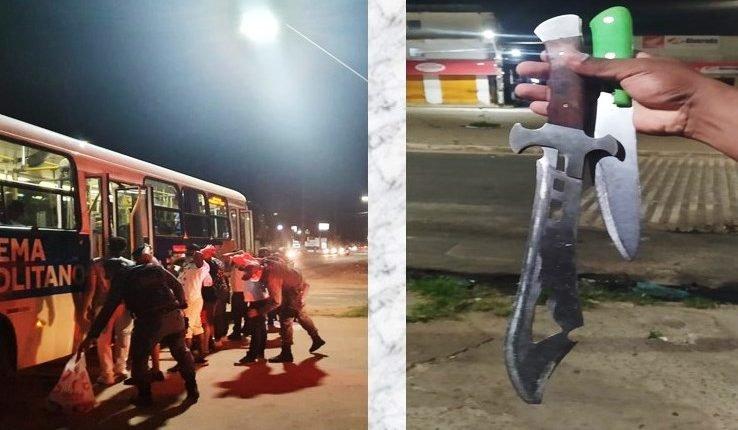 POLÍCIA MILITAR PRENDE INDIVÍDUOS E EVITA ASSALTO A ÔNIBUS COLETIVO NO MAIOBÃO
