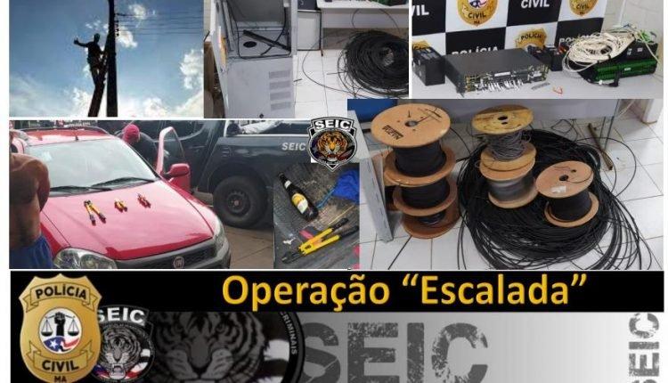 CINCO PESSOAS SÃO PRESAS PELA POLÍCIA CIVIL POR FURTOS DE EQUIPAMENTOS DE TELECOMUNICAÇÕES EM SÃO LUÍS