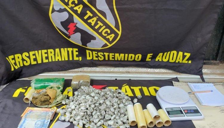 HOMEM É PRESO SUSPEITO DE TRÁFICO DE DROGAS EM SANTA INÊS