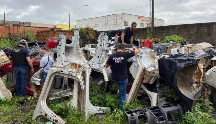 POLÍCIA CIVIL NEUTRALIZA QUADRILHA ESPECIALIZADA EM DESMANCHES DE VEÍCULOS ROUBADOS NA REGIÃO METROPOLITANA DE SÃO LUÍS