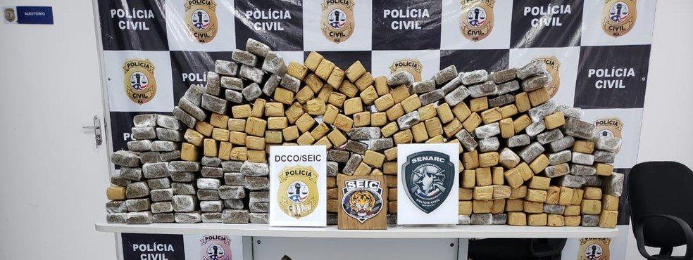 Polícia apreende 200 kg de maconha na BR-135 em Miranda do Norte