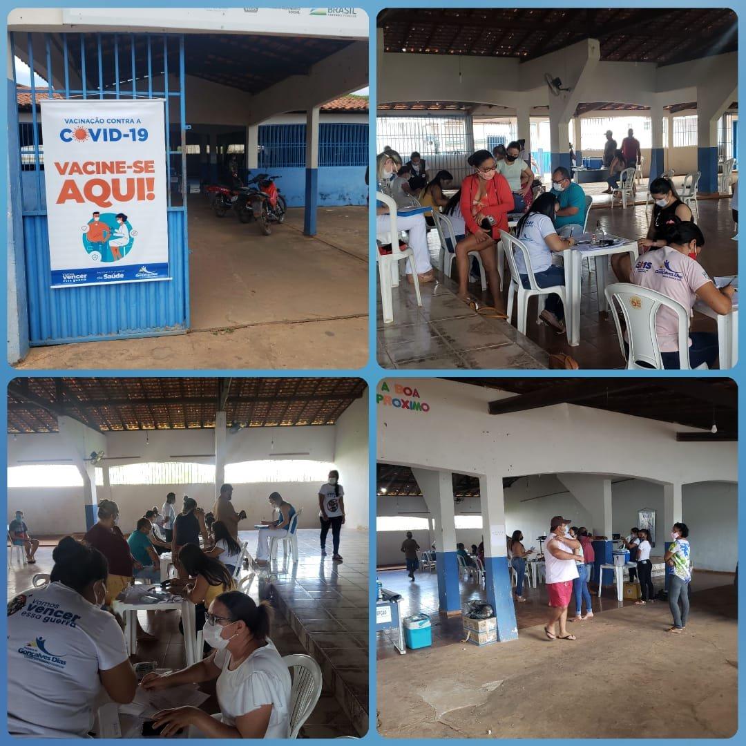 A vacinação contra Covid-19 em Gonçalves Dias com a chegada de 1.010 vacinas vai dar uma acelerada