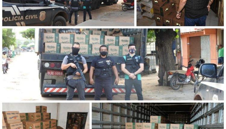 POLÍCIA PRENDE 03 EMPRESÁRIOS EM BARRA DO CORDA PELOS CRIMES DE RECEPTAÇÃO EM CARGA AVALIADA EM R$ 200 MIL REAIS